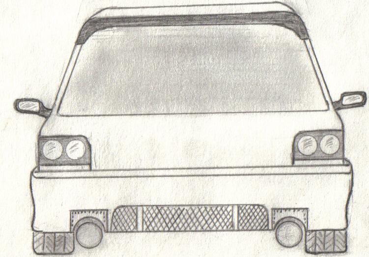 нарисованных машин ваз